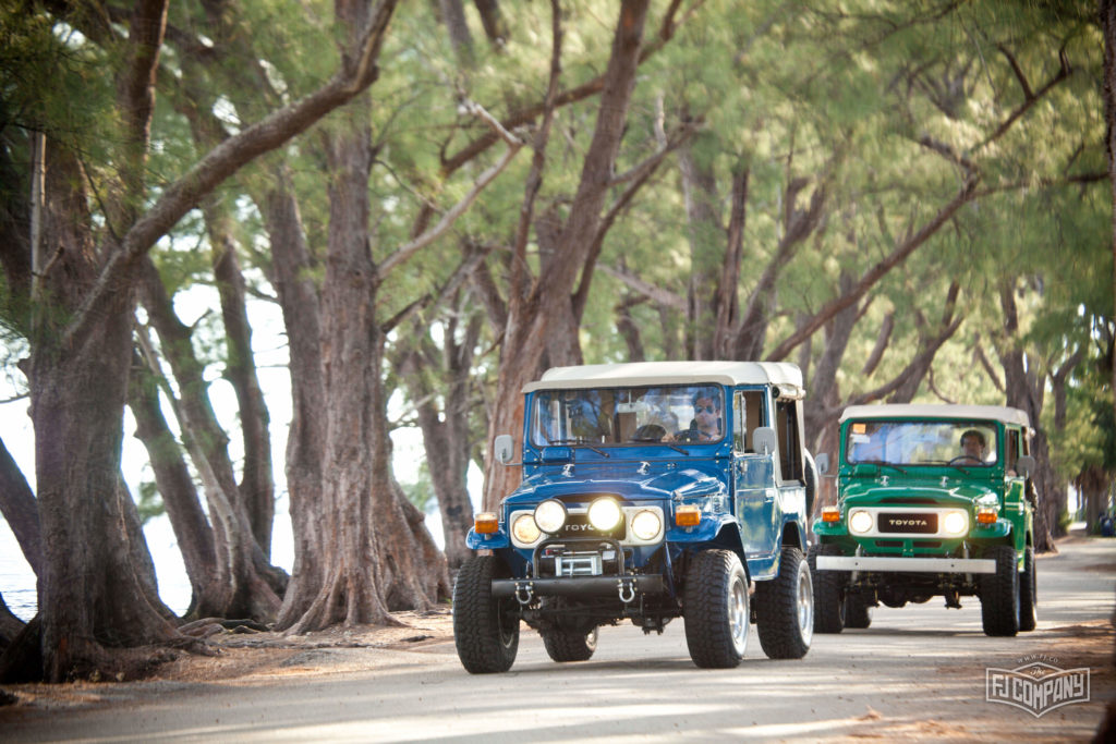FJ40 Land Cruiser with soft top medium blue
